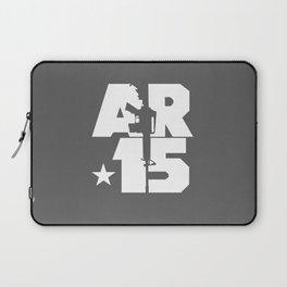 AR-15 (Gunmetal/White) Laptop Sleeve