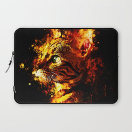 bengal cat yearns for freedom splatter watercolor Laptop Sleeve