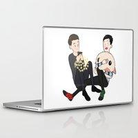phil jones Laptop & iPad Skins featuring Dan & Phil mini christmas by Marie Land