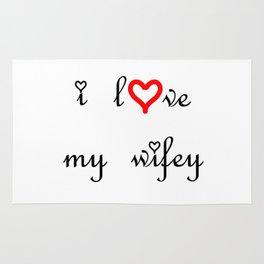 I love my wifey . artlove Rug
