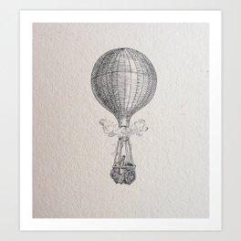 Hot air Ballon Art Print