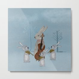the bunny quartet Metal Print