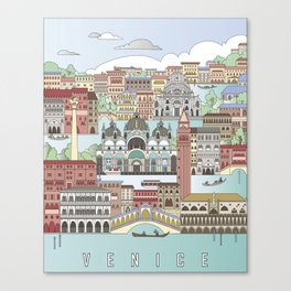 Venice City Poster Canvas Print