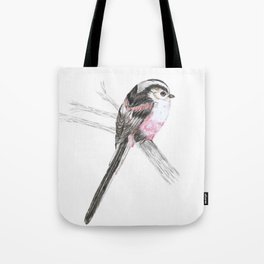 Tailed tit Tote Bag