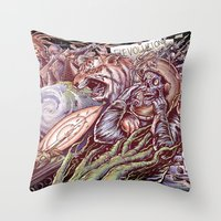 revolution Throw Pillows featuring Revolution by Jeremy Kiraly