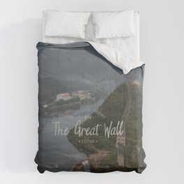 A different view of The Great Wall of China Comforters