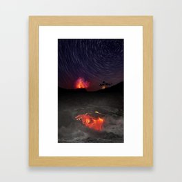 Kilauea Volcano Eruption .4 Framed Art Print