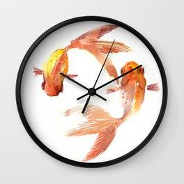 Goldfish Feng Shui, Koi Fish Wall Clock