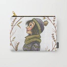 Winter Wreath Carry-All Pouch