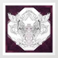 chakra Art Prints featuring Chakra by BAKLAVART