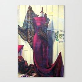Venetian Textile Window Canvas Print