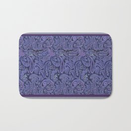purple paisley Bath Mat