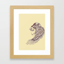 Raven Girl Framed Art Print