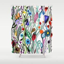 Wedding floral garland bouquet special design Shower Curtain