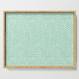 Hand Knit Mint Serving Tray