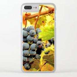 Grape Vines in Autumn Clear iPhone Case