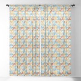 Woolen balls Sheer Curtain