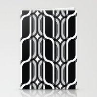 bauhaus Stationery Cards featuring Bauhaus Type Black and White Art by Addison Barker