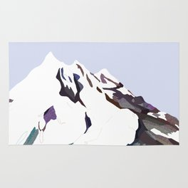 Mountains In The Cold Design Rug