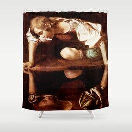 Michelangelo Merisi da Caravaggio, Narcissus at the Source, oil on canvas, 1597-99 Shower Curtain