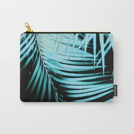 Palm Leaves Summer Night Vibes #1 #tropical #decor #art #society6 Carry-All Pouch