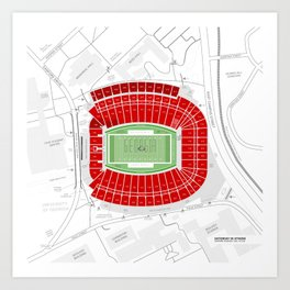 Stadium Traditions: Saturday in Athens (Sanford Stadium) Art Print