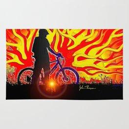 Blazing Bike Rider Rug