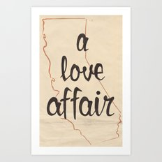a love affair Art Print