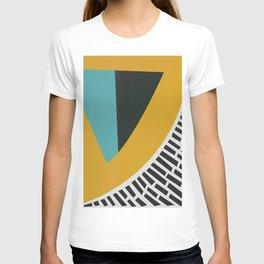 Mustard Citrus Abstract T-shirt