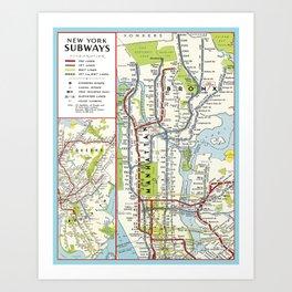 Metro NY Art Print