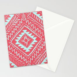 Watercolor Geometric - Guava Mint Stationery Cards