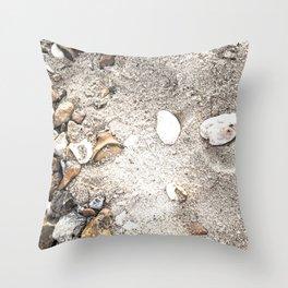 Beach memory Throw Pillow