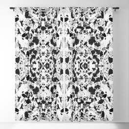 Beautiful Black and White Terrazzo Tile Blackout Curtain