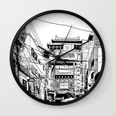 Yokohama - China town Wall Clock