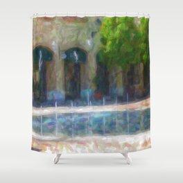 Paesaggio con fontana Shower Curtain
