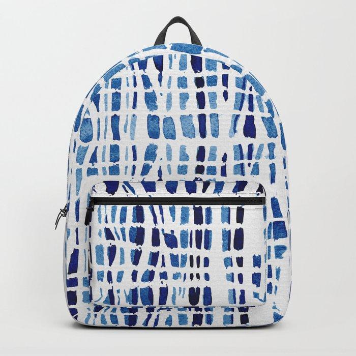 Shibori Braid Vivid Indigo Blue and White Backpack