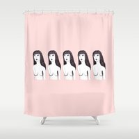 naked Shower Curtains featuring Naked Girl by Morgane Dagorne