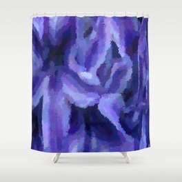 Purple Hibiscus Leaf Tapestry Print #1497 Shower Curtain