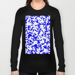 Spots - White and Blue Long Sleeve T-shirt