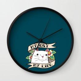 My Cat, My Life II Wall Clock