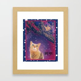 frog and cat Framed Art Print