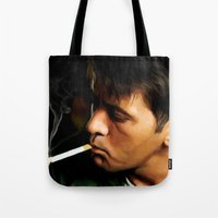 apocalypse now Tote Bags featuring Apocalypse Now Painting #1 by Gabriel T Toro