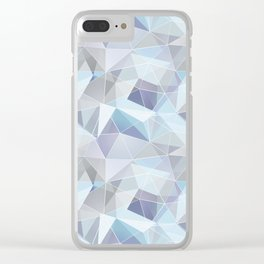 Broken glass in blue. Clear iPhone Case