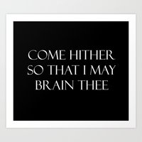 Come hither.... Art Print