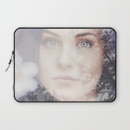 Portrait woman double exposure Laptop Sleeve