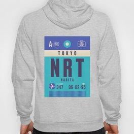 Retro Airline Luggage Tag - NRT Tokyo Narita Hoody