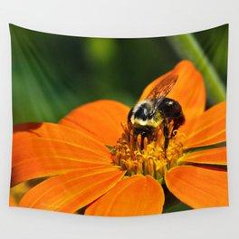 Bumblebee Hard At Work Wall Tapestry