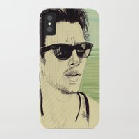 james franco iPhone & iPod Cases featuring James Franco by beecharly