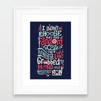 risa rodil Framed Art Prints featuring Fandom Life by Risa Rodil
