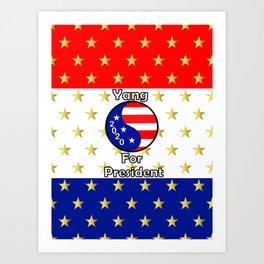 Yang For President Art Print